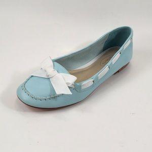 Talbots Blue Leather Flats